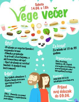 Veganska večer za mlade - Dođi i Ti!